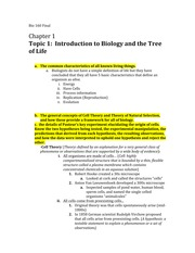 Bio 160 Complete Course Notes