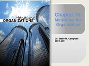Chapter 10_MGT4001_motivating the organization