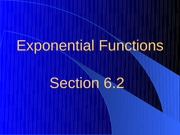 6.2 Exponential Functions