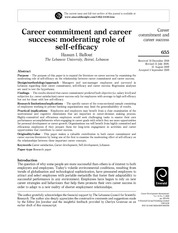 1. Career commitment and career success moderating role of self-efficacy