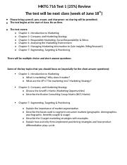 MKTG716 Test 1 Information and Topics for review .docx