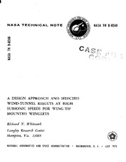 Whitcomb_NASA-report-1976_Winglets