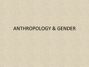 Gender - A Cross Cultural Perspective
