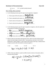 Worksheet_11_Thermochemistry_Key