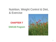 CHAPTER 7 LECTURE -- Nutrition, Weight Control & Diet, & Exercise-2