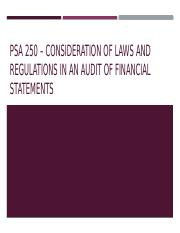 Psa 250 – consideration of laws and regulations.pptx