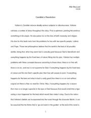 Dissertation sur candide apologue