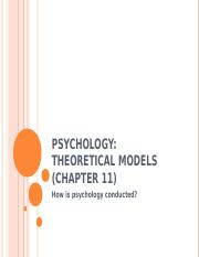 11 Psychology Theoretical models.ppt