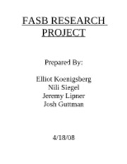 FASB Research Project