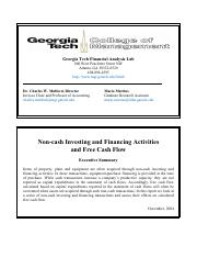 ga_tech_non-cash_2004 Non-cash Investing and Financing Activities and Free Cash Flow.pdf