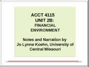 UNIT 2B _FINANCIAL ENVIRONMENT