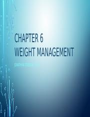 Chapter 6 Weight Management.pptx