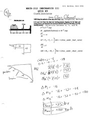 Shear and Bending Moment Quiz