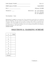 Test 1 with solutions