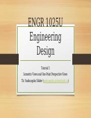 ENGR 1025 Tutorial 5