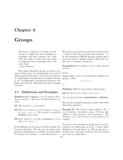 Chapter 4 Groups