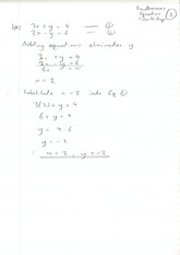 Simultaneous equations solutions