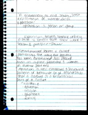 Intro to Woman's Studies notes  1