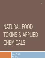 Lecture XVI Natural Food Toxins 2012.ppt