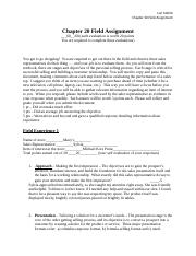 Melick_ Chapter 20 Field Assignment.docx