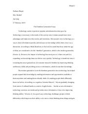 the dumbest generation synthesis essay.docx