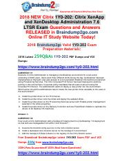 2018 Braindump2go New 1Y0-202 Dumps with PDF and VCE 314Q&As Free Share(Q111-Q121).pdf