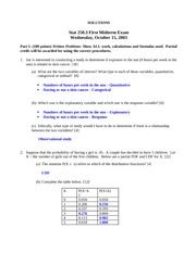 STATS 250 2003 Midterm 1 Solutions