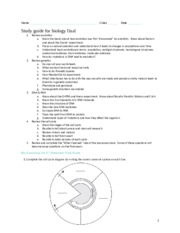 2nd biology semester review study guide