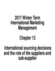 13. Etemad-Chapter 13-Outsourcing & Suppliers-12Fab2017