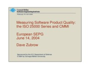 Measuring software product quality