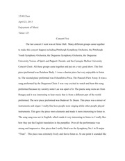 music essay my life in music enjoyment to music is a very  2 pages concert five essay