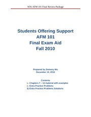 AFM 101 Final Exam Aid Package
