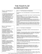 Four P's of Globalization
