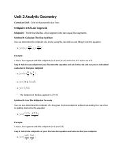 Math Notes Unit 2 Analytic Geometry.docx