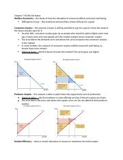 Chapter 7 ECON 110 Notes