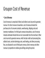 Groupon+Cost+of+Revenue.pptx