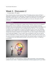 Psy 331 week 3 discussion 2.docx