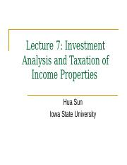 Lecture 7 Investment and Taxation(1)