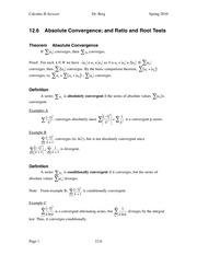 Calculus II Notes 12.6