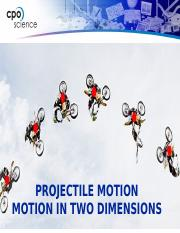 1_Projectile Motion Notes 2016