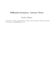 Differential Geometry - Lecture Notes