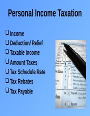 Unit 10 - Personal Income Taxation (S1 2012 2013)
