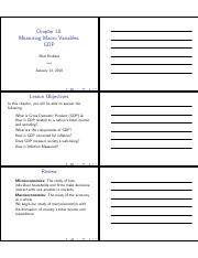 MacroEcon Chapter 10 Worksheet
