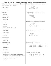 Homework 24 Solution on Precalculus