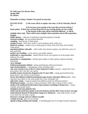 **PS 1100 Exam Two Review Sheet- HORNER DOWNLOAD