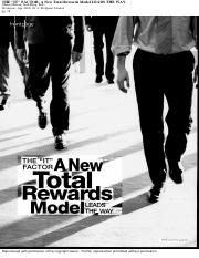 "THE ""IT"" FACTOR- A New Total Rewards Model LEADS THE WAY"