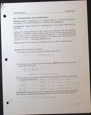 MA306 Permutations and Combinations Leture Notes