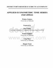 SolutionManualFor《AppliedEconometricTimeSeries》(2nd).pdf