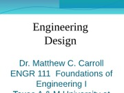 ENGR 111 Design Process Summer 2012