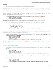 Lesson8-PrinciplesofCalculationSafeDoseRanges